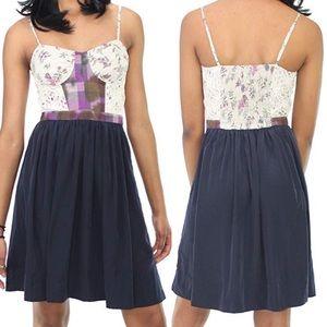 RACHEL Rachel Roy Daisy Chain Corset Dress